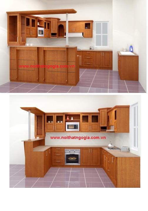 Kệ bếp quầy bar MS243