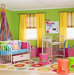 Rèm vải phòng baby cực dễ thương dành cho các bé